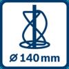 Stirring mechanism ∅ 140 mm