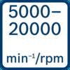 No load speed 5000 - 20000 min-1/rpm