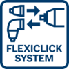 Full flexibility Bosch FlexiClick 5-in-1 System: Masters any challenge - the optimum solution in every work situation