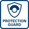 Outstanding user protection thanks to the anti-rotation protective guard - stands firm, even if the disc breaks