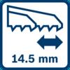 Stroke length 14.5 mm