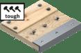Wood with tough metal