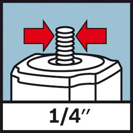 """Threaded mount 1/4 inch 1/4"""" tripod thread"""