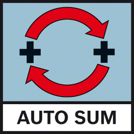 Auto Sum Automatically adds together measurements using AutoSum function