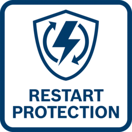 Restart protection Prevents the tool from automatically starting up after a power cut.