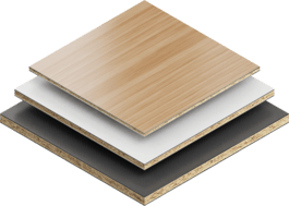 Plastic coated boards