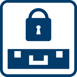 Theft protection thanks to optional lock function