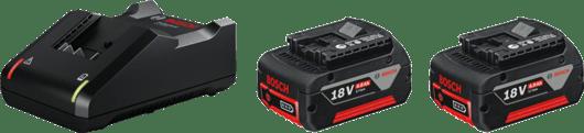 in cardboard box with 2 x 4.0 Ah Li-ion battery